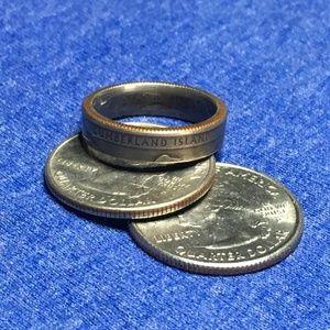 2018 US Georgia State Parks Quarter Coin Ring